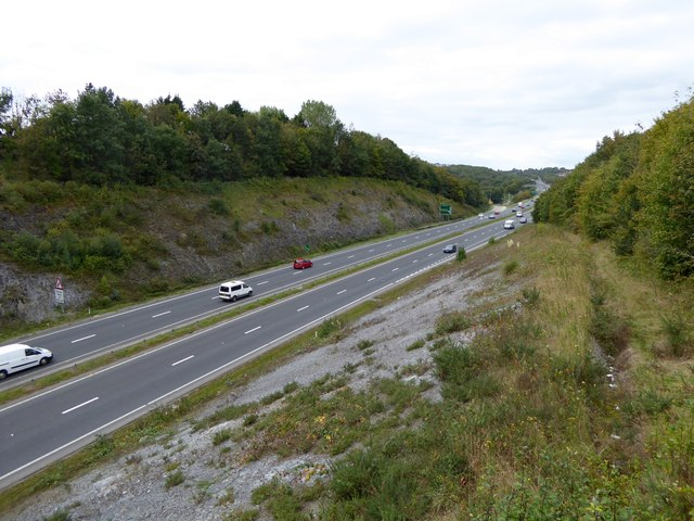 A38 Plymouth bypass, in a cutting near Honicknowle