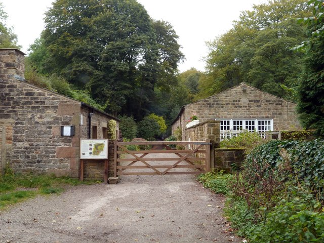 Gated entrance to Skipton Castle Woods
