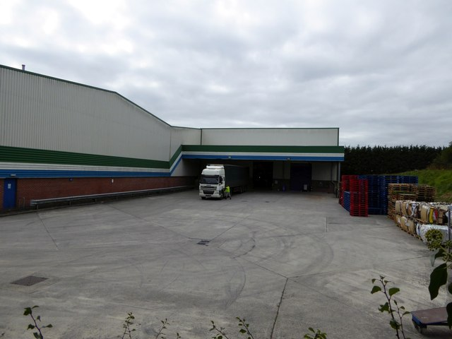 Loading area for an industrial unit, Burrington