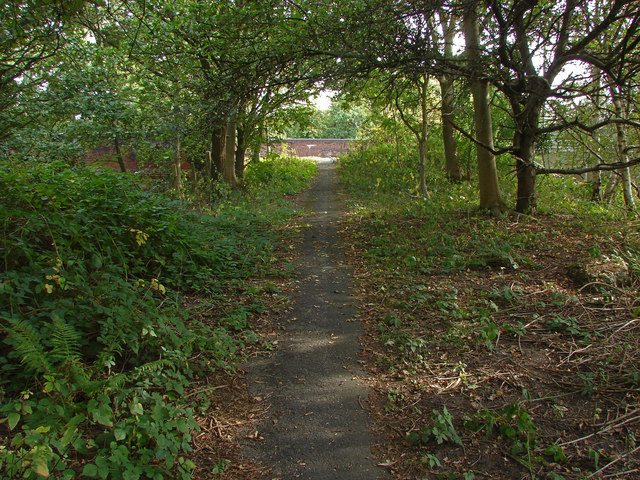 Walkway between the A322 and the A30