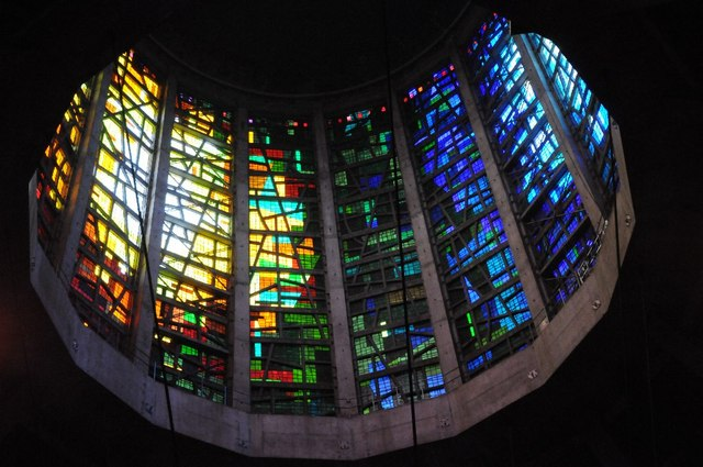 Stained glass in Liverpool Metropolitan Cathedral