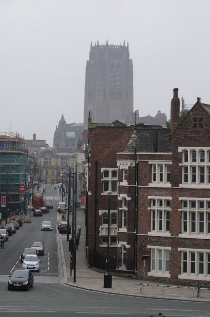 View to Liverpool's Anglican Cathedral