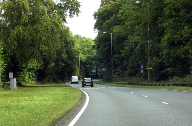 The A59 heading towards Clitheroe