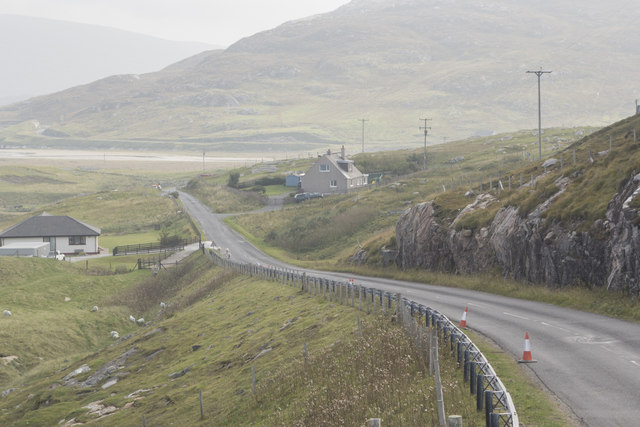 The A859 at Seilebost
