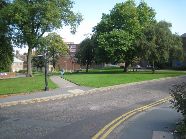 Open space between High Street and The Inhedge, Dudley