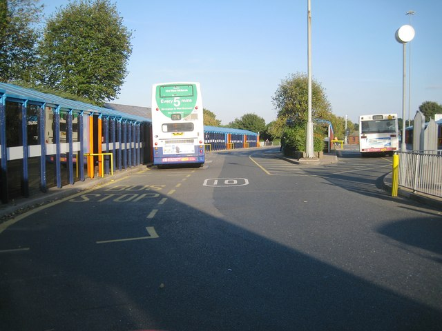 Looking east in Dudley bus station