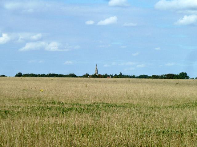 View towards Little Canfield church