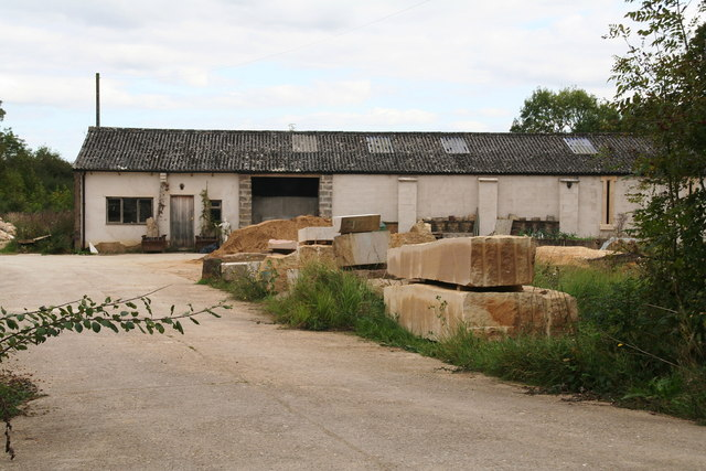 Stone yard at Spanhoe Airfield