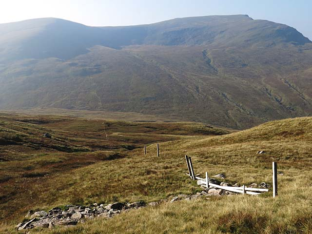 Boundary fence on Beinn Mhanach