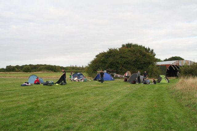 Spanhoe: camping on the airfield