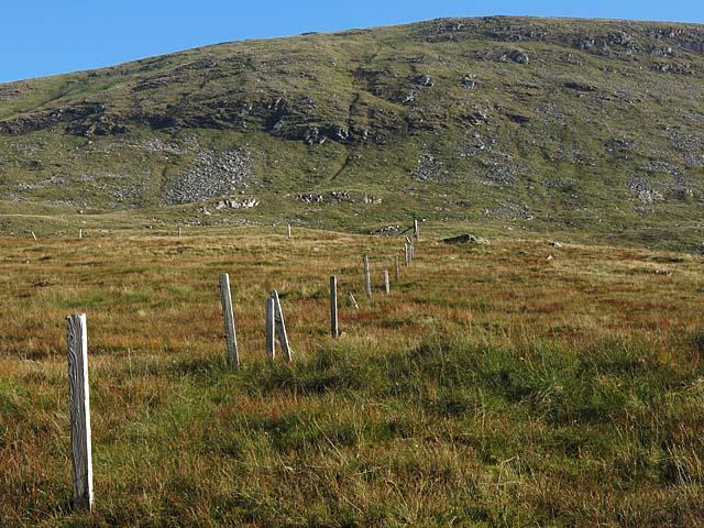 Boundary fence on Beinn a'Chuirn
