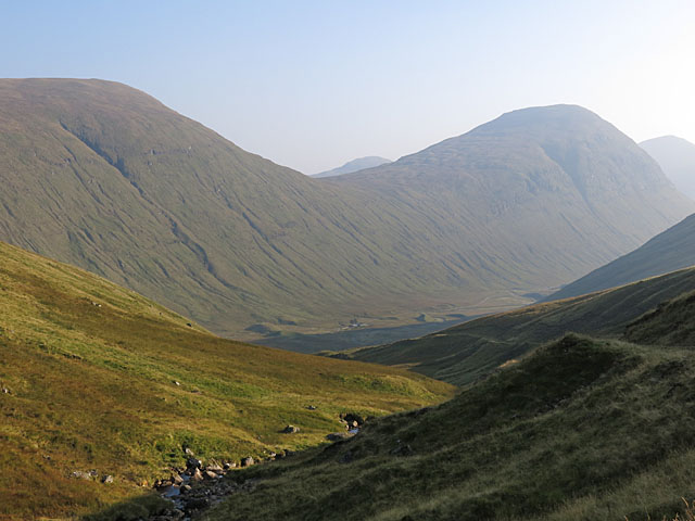 Allt an Loin at the head of Auch Gleann