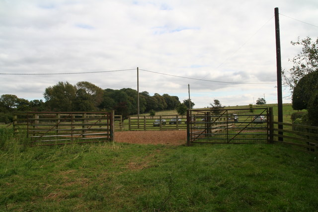Cattle pen on parkland on the Laxton Hall Estate