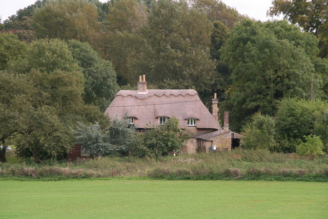 Thatched cottage on the edge of Laxton Park