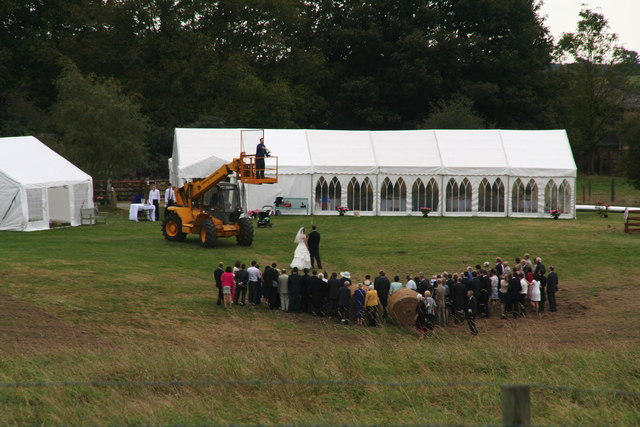 Wedding behind Home Farm, Laxton