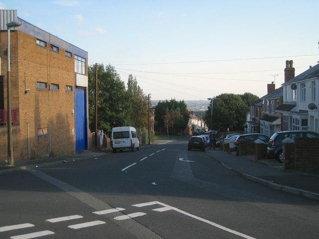 Looking down Churchfield Street, Dudley