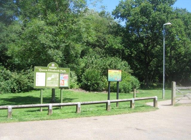 Entrance to Queen Elizabeth Park