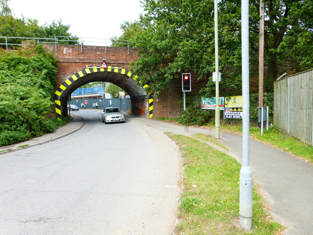 Railway bridge over North Lane from the south