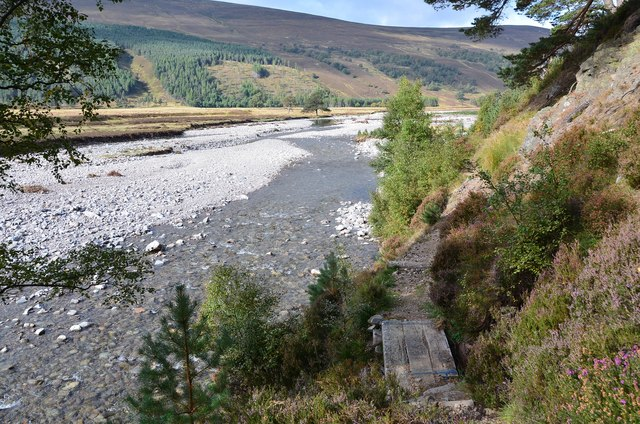 Path above the river, Glen Feshie