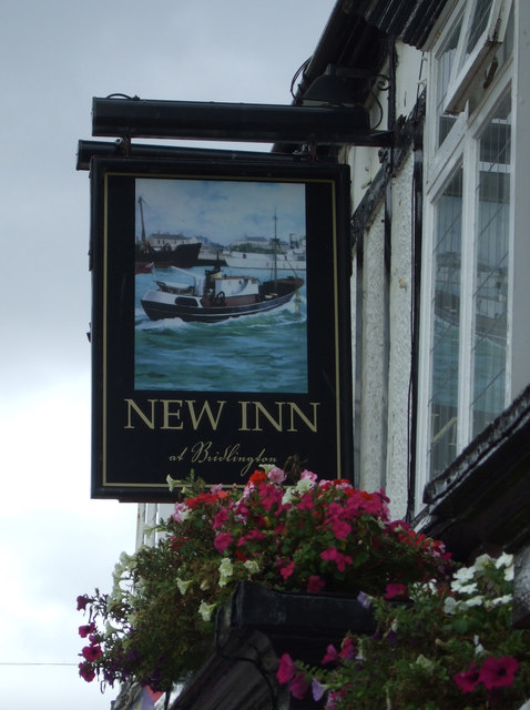 Sign for the New Inn, Bridlington