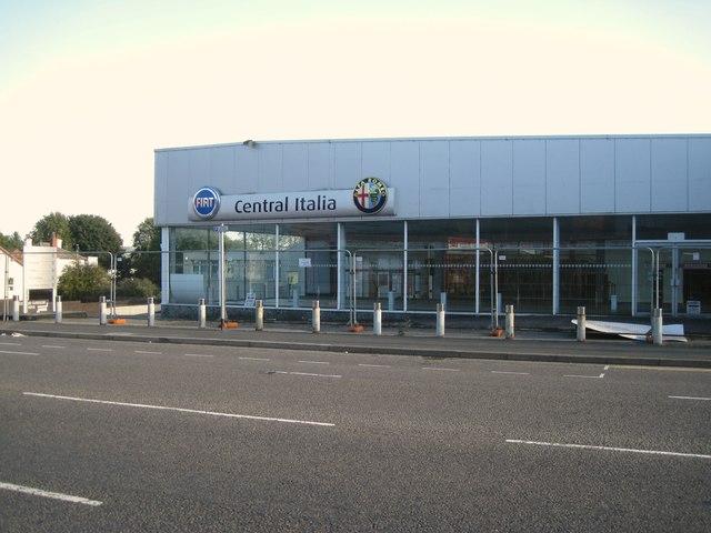 Empty car showroom, King Street, Dudley