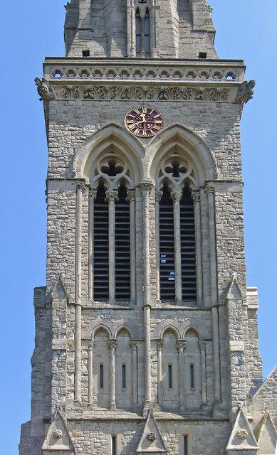 Richmond - St Matthias Church - base of spire