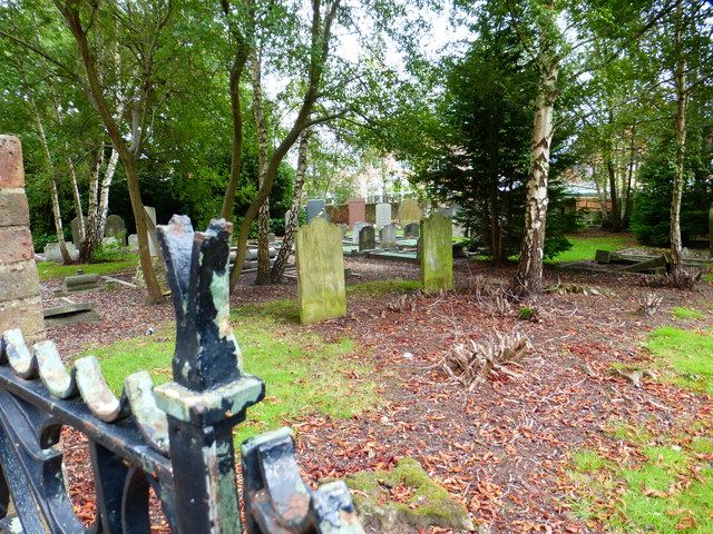 Old and enclosed graveyard on Redan Road