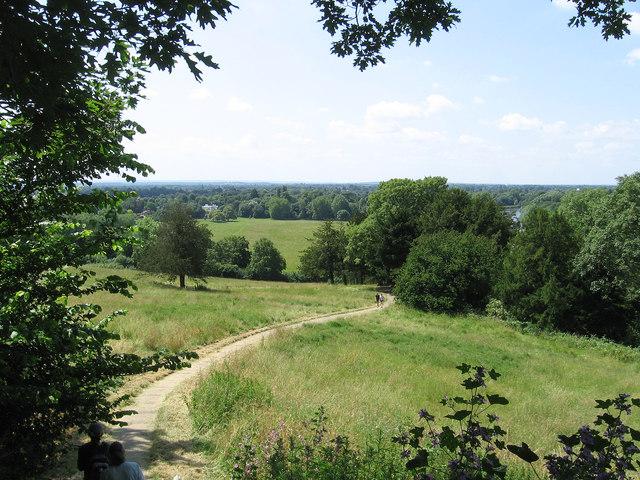 Richmond - view SW from Richmond Hill