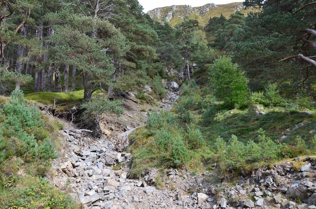 Dry gully, Creag na Gaibhre
