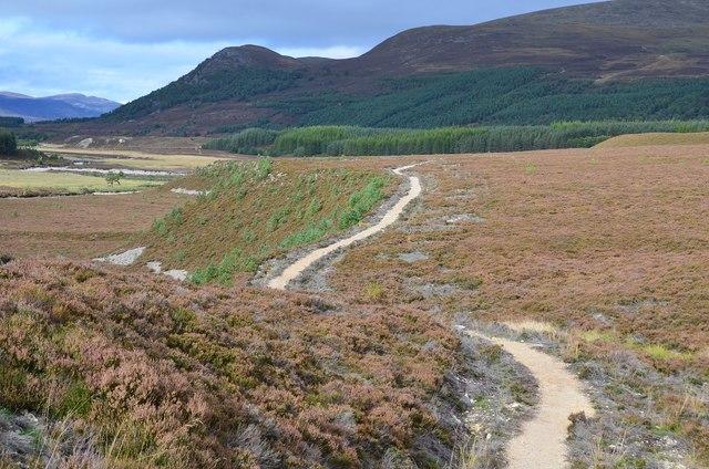 Realigned path, Glen Feshie