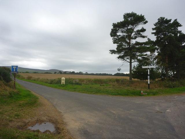 Rural East Lothian : Redshill Crossroads