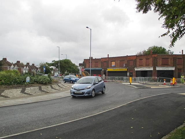 Perne Road: reconfigured roundabout