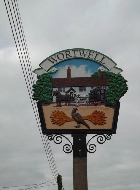 Wortwell Village sign