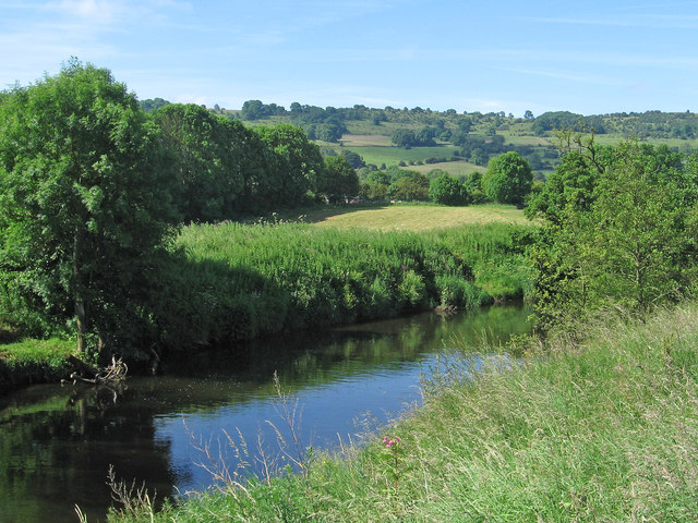 Darley Dale - view across River Derwent