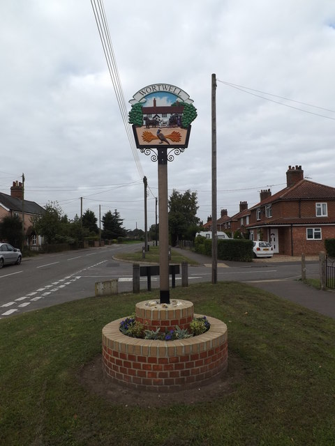 Wortwell Village sign