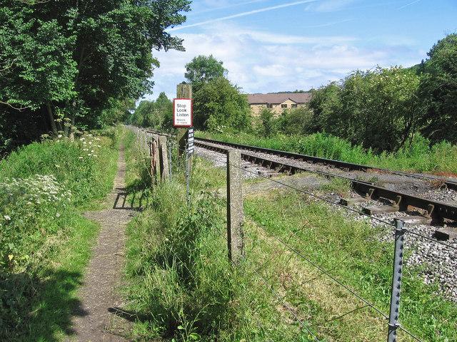 Darley Dale - railway foot crossing near Holt Drive