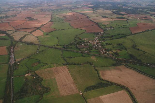 Welland Viaduct and Harringworth: aerial 2014