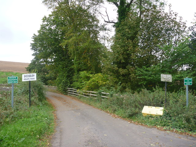 Rural East Lothian : Skedsbush Road-end (North)