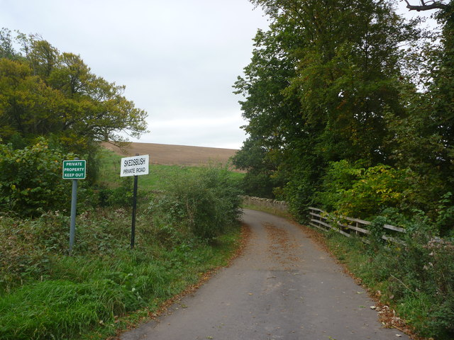 Rural East Lothian : Skedsbush Road-end (North)