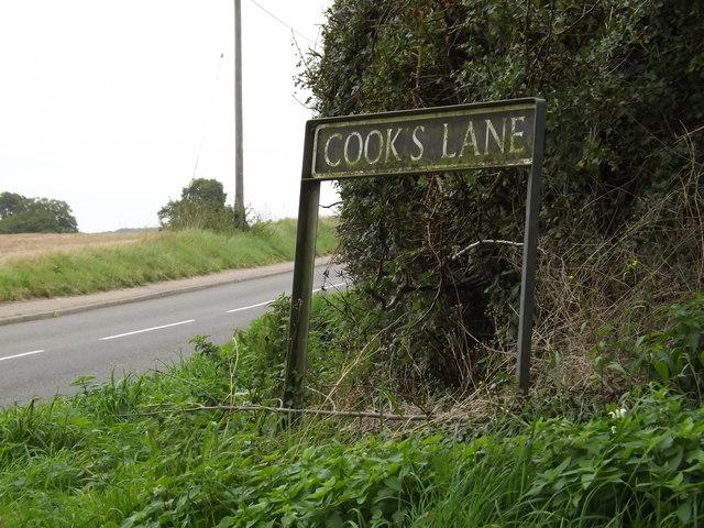 Cooks Lane sign