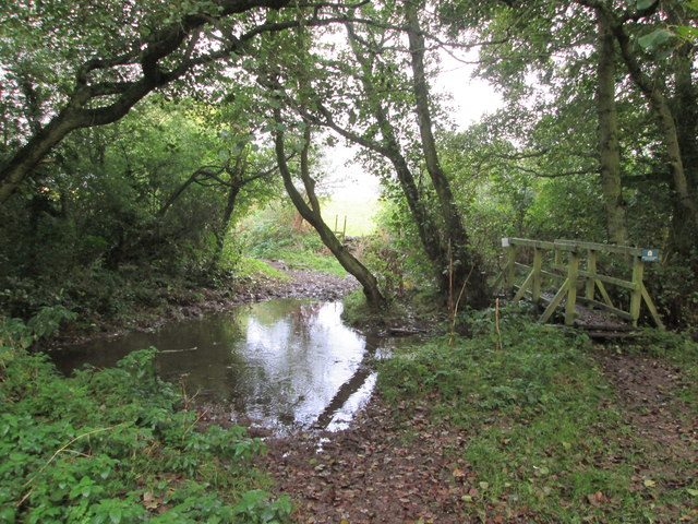 Beedale  Beck  and  footbridge  over