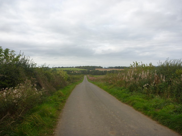 Rural East Lothian : Road NW From Marvingston