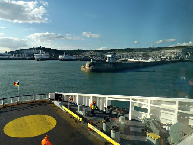 Approaching Dover Harbour