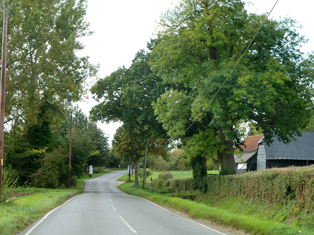 Thaxted Road by Smiths Green Farm