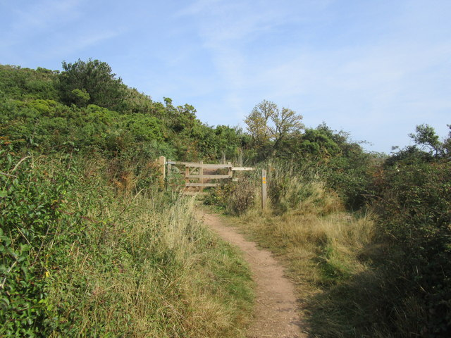 Gate on South West Coast Path