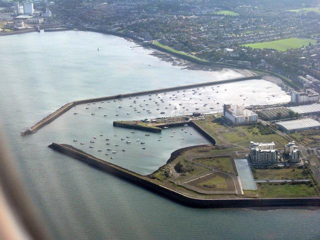 Granton Harbour from the northwest