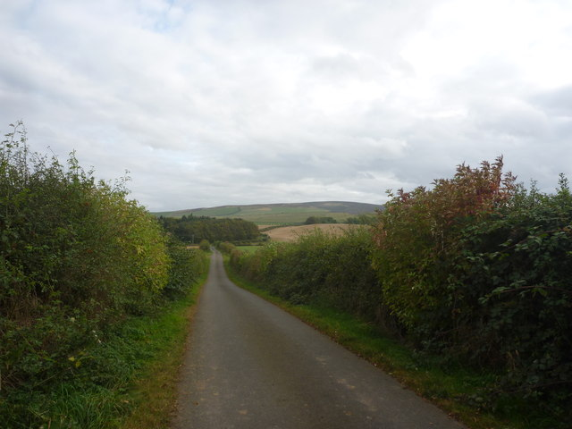 Rural East Lothian : Empty Road South Of Marvingston