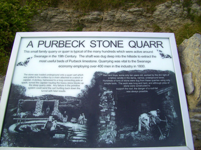 Explanation at the quarry