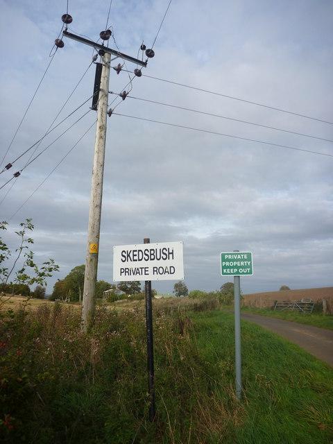 Rural East Lothian : Skedbush Road-end (South)