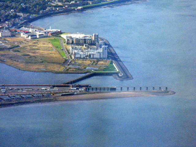 The entrance to the Port of Leith